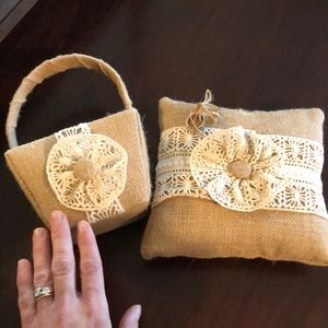 Other - Flower girl basket with matching ring bearer
